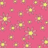 De roze achtergrond van het bloempatroon Royalty-vrije Stock Afbeelding