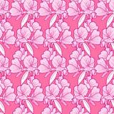 De roze achtergrond van het bloempatroon Stock Afbeeldingen