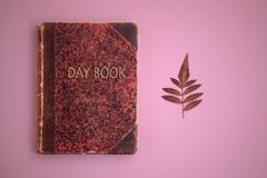 De roze achtergrond van het dagboek stock fotografie