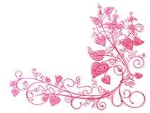 De roze achtergrond van het klimopkant Stock Afbeelding