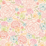 De roze achtergrond van het rozen naadloze patroon Stock Foto