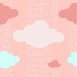 De roze Achtergrond van het Wolkenpatroon Royalty-vrije Stock Afbeeldingen