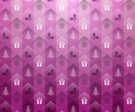 De roze achtergrond van Kerstmis vector illustratie