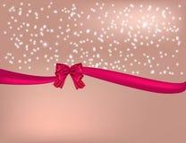De roze achtergrond van Kerstmis Royalty-vrije Stock Afbeeldingen