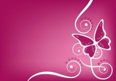 De roze achtergrond van vlinders royalty-vrije illustratie