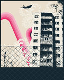 De roze Affiche van de Stad Stock Foto