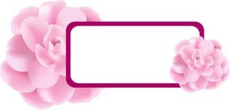 De roze banner van de Bloem Royalty-vrije Stock Foto