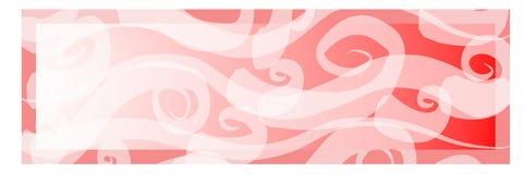 De roze Banner van de Kunst van de Gradiënt Stock Fotografie