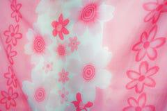 De roze Bloementextuur van het Bedlinnen Royalty-vrije Stock Foto's