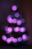 De roze boom van bokehkerstmis Stock Afbeelding