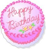 De roze Cake van de Verjaardag Royalty-vrije Stock Fotografie