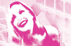 De roze Collage van het Meisje Stock Afbeeldingen