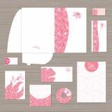De roze Collectieve Vector van het Identiteitsmalplaatje Royalty-vrije Stock Foto's