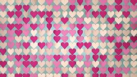 De roze 3D samenvatting van de hartenserie geeft illustratie terug royalty-vrije illustratie