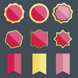 De roze dame beweegt malplaatje van het etiket retro uitstekende ontwerp Stock Foto's
