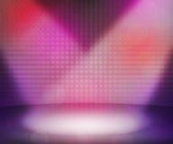 De roze Donkere Zaal van Schijnwerpers Stock Foto