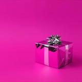De roze Doos van de Gift Stock Foto's