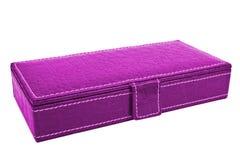 De roze doos van leverjuwelen Stock Afbeeldingen