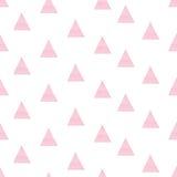 De roze driehoek van de waterverfhand getrokken illustratie Stock Foto's