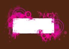 De roze en Bruine Banner van de Partij Stock Fotografie