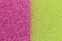 De roze en Gele achtergrond van de sponsoppervlakte Royalty-vrije Stock Afbeelding
