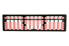De roze geïsoleerde calculator van telraam retro Japan Royalty-vrije Stock Foto