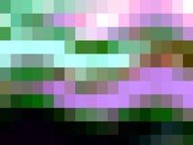 De roze groene witte purpere vierkante abstracte meetkunde, vat levendige textuur samen vector illustratie