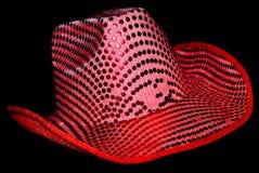 De roze Hoed van de Cowboy van het Lovertje Royalty-vrije Stock Foto