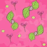 De roze Kauwgom Bloemen herhaalt Patroonvector stock illustratie