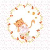 De roze leuke kaart van de verjaardagsgroet Royalty-vrije Stock Foto