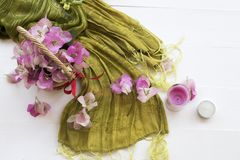 De roze lokale flora van bloemenbougainvillea van Azië op wit stock afbeeldingen