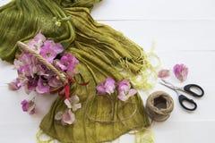 De roze lokale flora van bloemenbougainvillea van Azië op wit royalty-vrije stock foto