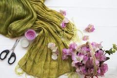 De roze lokale flora van bloemenbougainvillea van Azië op wit royalty-vrije stock foto's