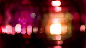 De roze muziek van de discoballclub stock video