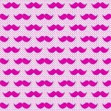 De roze Naadloze Achtergrond van de Bakkebaardensnor Stock Afbeelding