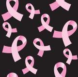 De roze Naadloze Achtergrond van het Lint van Kanker Royalty-vrije Stock Fotografie