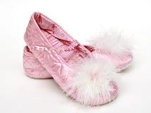 De roze Pantoffels van het Satijn Royalty-vrije Stock Afbeeldingen