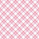 De roze Plaid van de Streep Stock Afbeelding