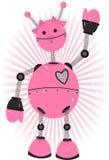 De roze Robot van het Meisje met grunge Royalty-vrije Stock Afbeeldingen