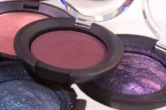 De roze, rode, donkere en shimmery oogschaduwwen voor maken omhoog Royalty-vrije Stock Afbeelding