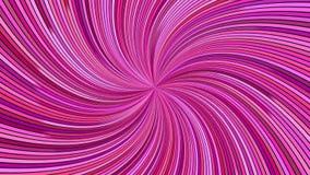 De roze roterende hypnotic spiraalvormige straal barstte streepontwerp stock video