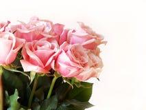 De roze rozen van de Dag van de valentijnskaart Stock Fotografie