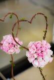 De roze rozen van het boeket. Stock Afbeelding