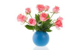 De roze rozen van het boeket Stock Afbeelding