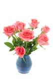 De roze rozen van het boeket Stock Fotografie