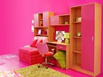 De roze ruimte van kinderen Stock Fotografie