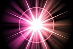 De roze Samenvatting van de Zonnestraal van de Ster Royalty-vrije Stock Fotografie