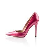 De roze schoen van de vrouwen hoge hiel stock foto's