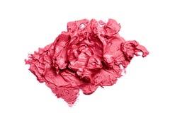 De roze Steekproef van de roomlippenstift stock fotografie