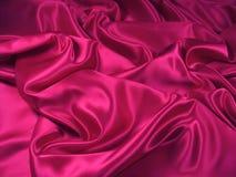 De roze Stof van het Satijn [Landschap] Royalty-vrije Stock Fotografie